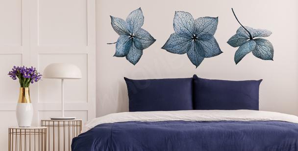 Blå hortensia väggdekor