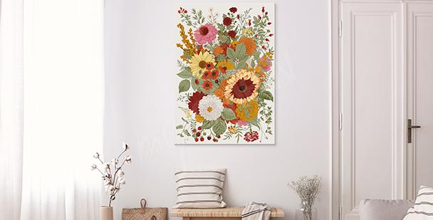 Blommig stil tavla