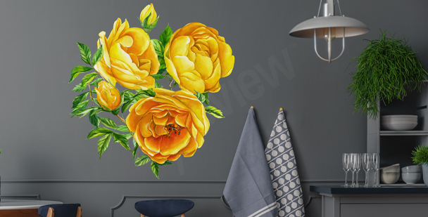 Blommig väggdekor