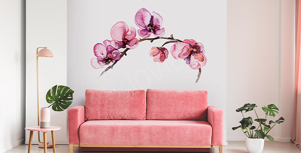 Blommigt väggklistermärke
