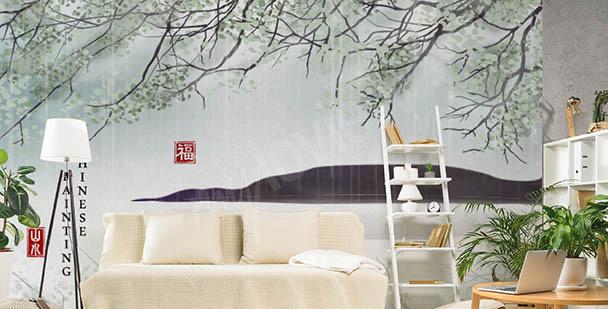 Botanisk fototapet Asien