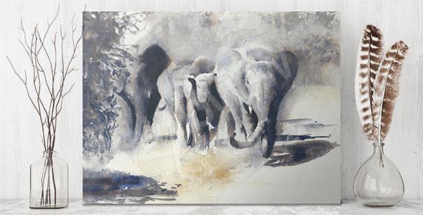 Canvastavla afrikanska djur