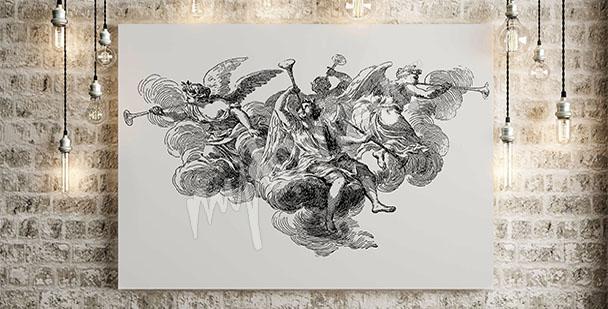 Canvastavla barock änglar