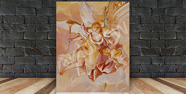 Canvastavla barock en fresk
