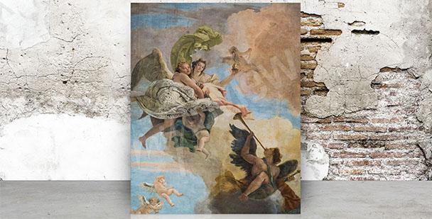 Canvastavla barockmålning ängel