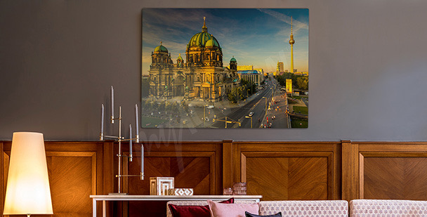 Canvastavla Berlin i solen