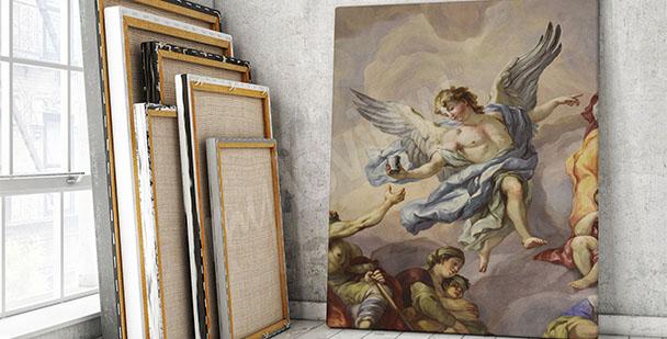 Canvastavla en fresk i Wienstil