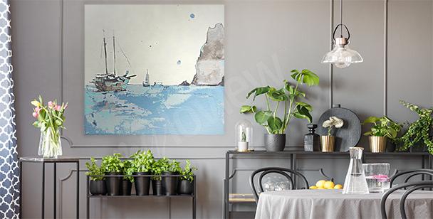 Canvastavla hav till vardagsrummet