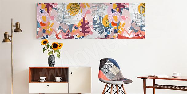 Canvastavla med abstrakta blommor