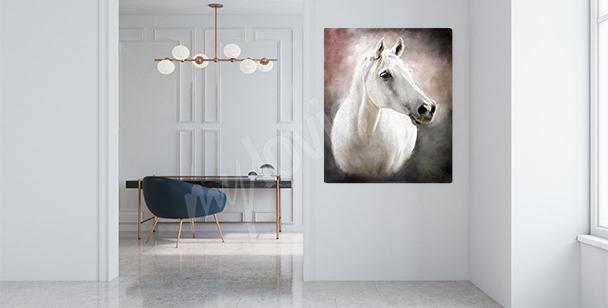 Canvastavla med arabisk fullblods häst