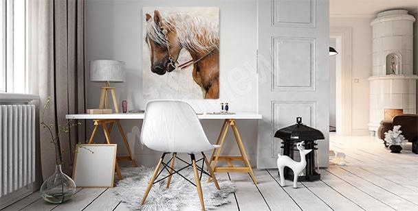 Canvastavla med en majestätisk häst