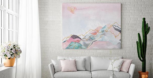 Canvastavla med ett landskap
