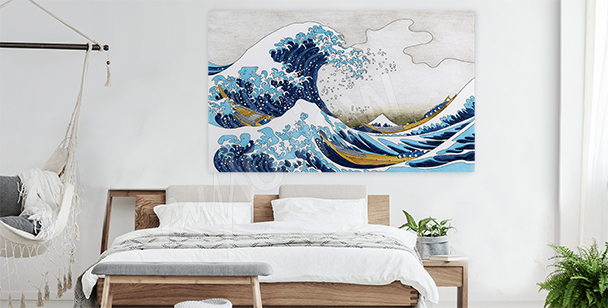 Canvastavla med hav och storm