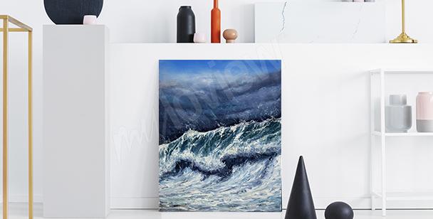 Canvastavla med hav till hallen