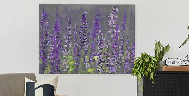 Canvastavla med lavendelfält