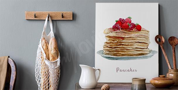 Canvastavla med maträtter och pankakor