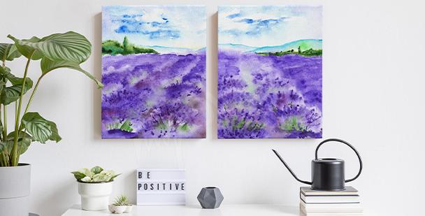 Canvastavla med Provencelandskap