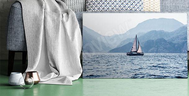 Canvastavla med sjöresa