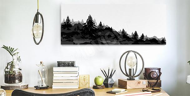 Canvastavla med skog till kontoret