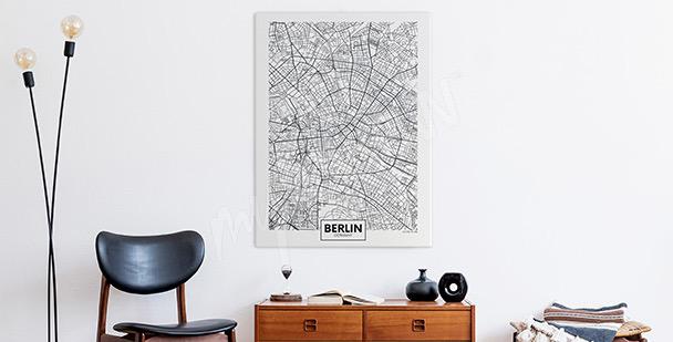 Canvastavla med stadskarta