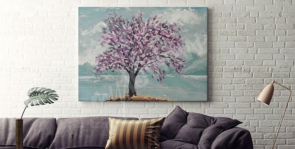 Canvastavla med träd till vardagsrum
