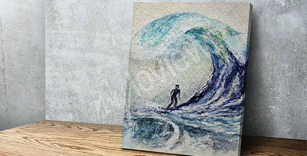 Canvastavla med vattensporter