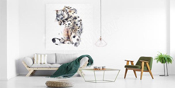 Canvastavla med vilt djur