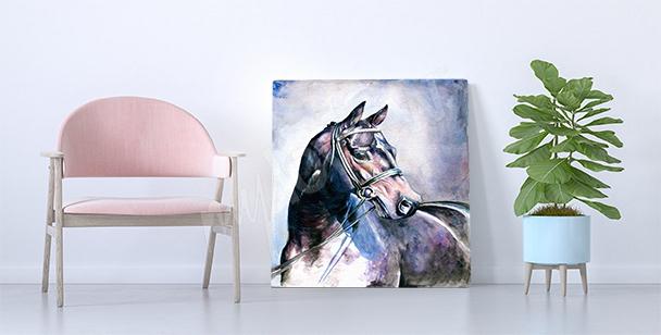 Canvastavla på en akvarellhäst