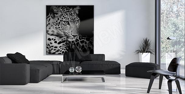 Canvastavla saffaridjur - leopard