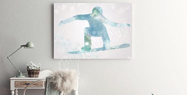 Canvastavla snowboard sport