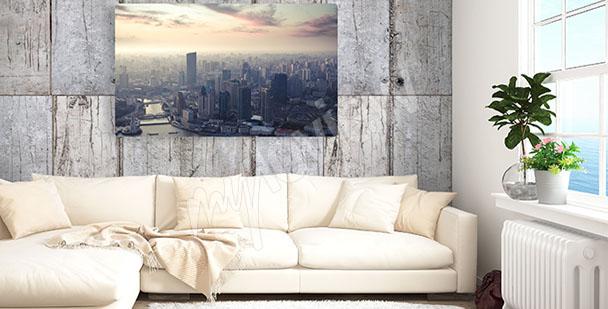 Canvastavla stadens skyline