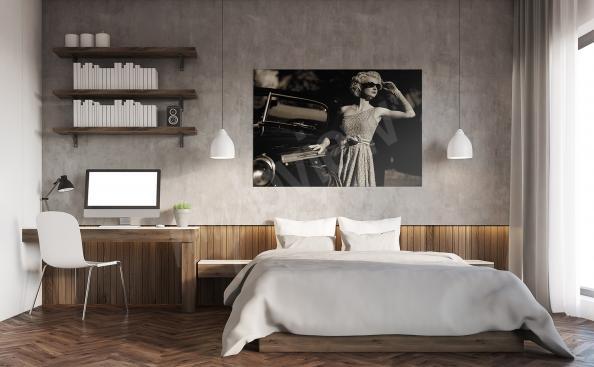 Canvastavla till sovrummet retro