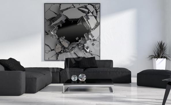 Canvastavla till vardagsrummet 3D