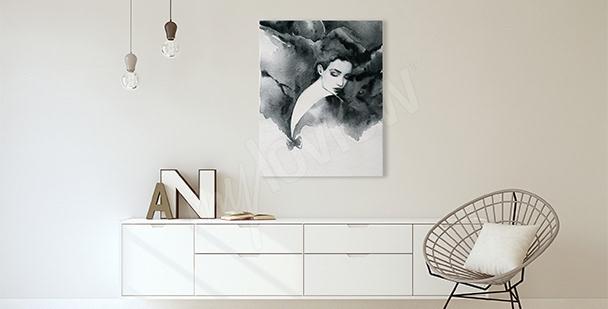 Canvastavla till vardagsrummet porträtt