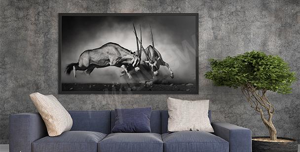 Canvastavla vilda djur