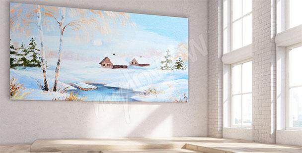 Canvastavla vinterlandskap