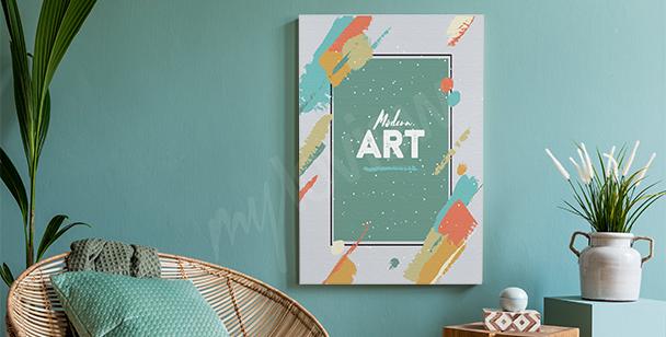 Canvastavlor i modern art stil