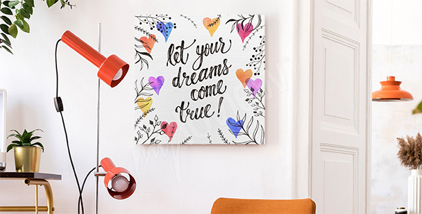 Canvastavlor med typografi för drömmaren