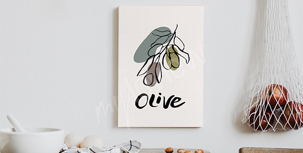 Canvastavlor med typografi med oliv