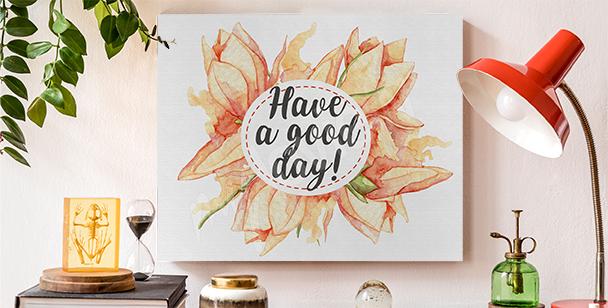 Canvastavlor typografi och blommor