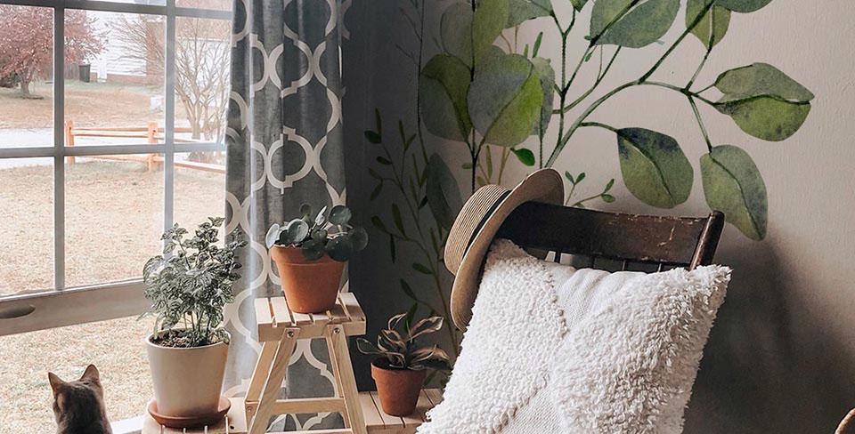 Dekal med eukaliptusblad