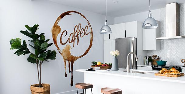 Dekal med kaffe i akvarell