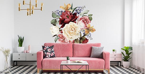 Dekorativt väggdekor med blommor