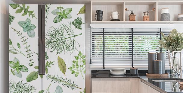 Dekorativt väggdekor till kylskåpet