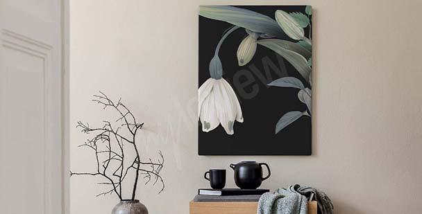 En blommig tavla i klassisk stil
