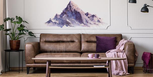 En väggdekor med landskapsstil