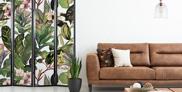 En växtlig väggdekor till barnrummet