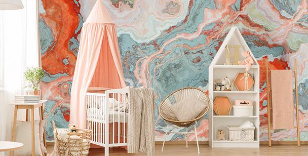 Färgglad fototapet till barnrummet