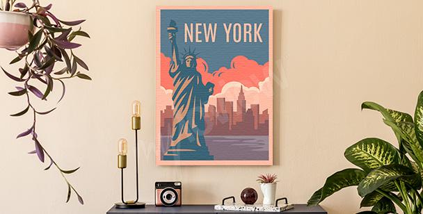 Färgglad tavla New York