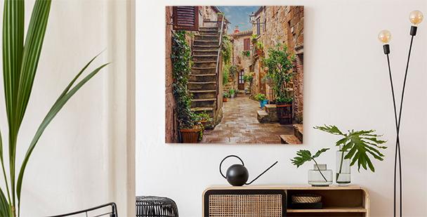 Färgglad tavla över Toskanien